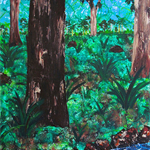 Wild (Off the Beaten Track) - Acrylic Landscape Painting on Canvas