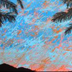 Suburban Sunrise - Acrylic Landscape Painting on Canvas