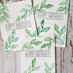 Birthday Cards - Nature design
