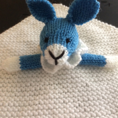Benny Bunny - Knitted baby blankie.