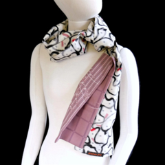 Meissen silk scarf.  Recycled from vintage kimonos