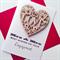 Mrs & Mrs LOVE IS LOVE heart wooden lasercut engagement cerebrate card
