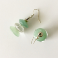 Jade Clear Quartz Gemstone Earrings.