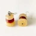 Agate and Carnelian Gemstone  Earrings.