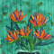 Bird of Paradise - Acrylic Floral Painting on Canvas
