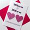 Mrs & Mrs LOVE IS LOVE heart pink glitter wedding engagement cerebrate card