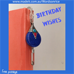 BIRTHDAY WISHES - bookmark