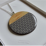 Patterned Wooden Pendant