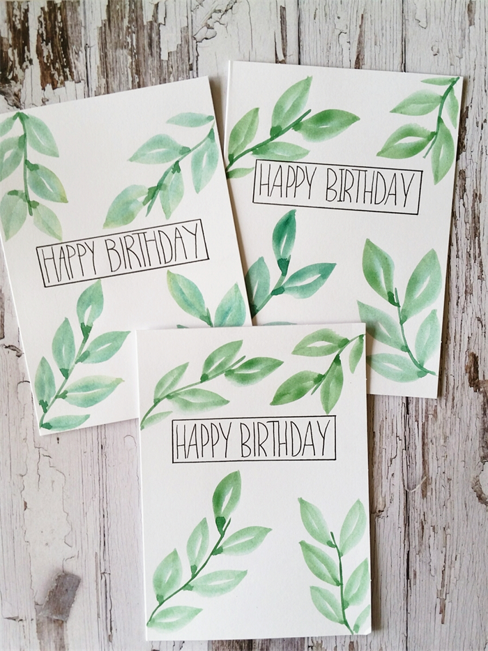 birthday cards nature design house of light