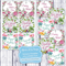 Watercolour Florals 4 Cards