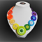 Beaut Buttons - Rainbow Love button necklace