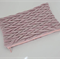 Pink Lurex and Leather Knitted Textured Purse Pouch Bag