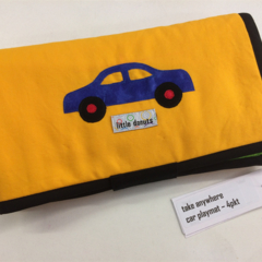 ~ NEW V'room Car Playmat in Yellow with 4 car 'garage' ~