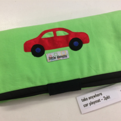 ~ NEW 'Vroom' Car Playmat in Green with 3 car 'garage' ~