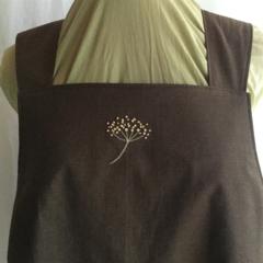 Japanese wrap apron, fennel flower, large, size 16/18