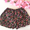 Flora black ~ Size 6-12 months size 0 baby girl floral shorts