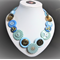 Beaut Buttons - Ice Queen button necklace