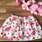 Bows & Berries ~ Size 6 girls cotton summer retro twirly style skirt