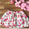Bows & Berries ~ Size 2 girls cotton summer retro twirly style skirt
