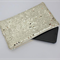 Gold Clutch Gold Sequins and Gold Leather Medium Purse Card Purse Coin Wallet