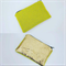 Lime Acid Green Knit and Gold Foil Leather Small Purse Card Purse Coin Wallet