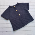 Little Cardigan - Hand Knitted - Size 2 - 100% Australian Merino Wool