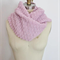 Pink and Silver Lurex Cotton Women's Scarf OOAK Knitted Scarf Spring Winter