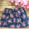 Navy floral  ~ Size 6 vintage retro twirly style girls skirt
