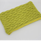 Lime Green Knitted Textured Purse Pouch Bag