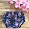 Navy floral | size 12-24 months 1 baby girl cotton nappy diaper cover