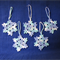 Set of Five Hand Crocheted Icy Coloured Snowflakes Xmas Tree Decorations