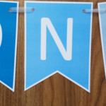 1st Birthday Boy Custom Made ONE Bunting Banner