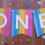 1st Birthday Girl Custom Made ONE Bunting Banner