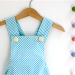Blue Gingham Retro Playsuit Size 0