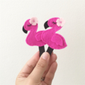Flamingo hair clip, pink, hot pink, accessory, girly