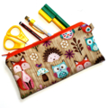 Pencil Case in Cute Woodland Critter Fabric