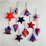 12 Felted Christmas Decorations #8