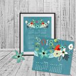 Decorative 2018 Chalkboard Calendar