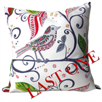 Christmas Bird Cushion Cover, LAST ONE, Pillow Cover, Christmas Gift