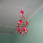 Polish Chandelier Felt Pink Small