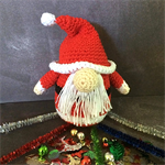 'Santa Gonk' Hand Crocheted Christmas Decoration