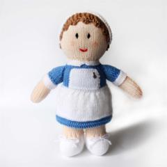 Nurse Betty - Hand Knitted Doll Softie