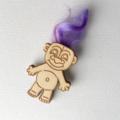 Troll Doll Brooch Wearable Art 90s Retro Style