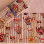 Tea Party Collection -  Centre Table Place mat  - Quilted Set of 2