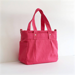 Teachers Carry All Bag, Handmade PRE-ORDER MARCH DELIVERY PINK COTTON CANVAS