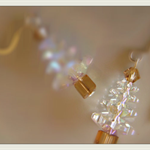 "Swarovski Crystalised Xmas Tree / Christmas Tree Earrings - ""NEW"""