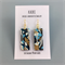 Handcrafted gold leaf polymer clay earrings, gold plated hooks- blue graffiti