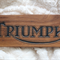 Vintage Triumph Motorcycle Carving