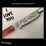 I LOVE YOU - words on rice PEN