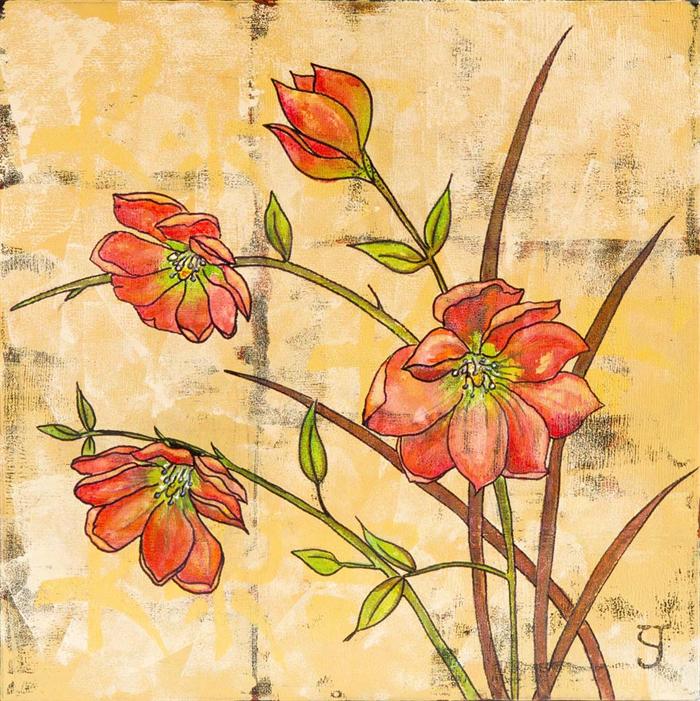 Red Flower Fine Art Print Floral Wall Art | Sesen Fashion | madeit ...